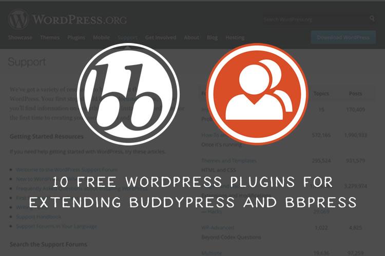 10 Free WordPress Plugins for Extending BuddyPress and