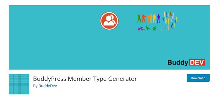 BuddyPress Member Type Generator