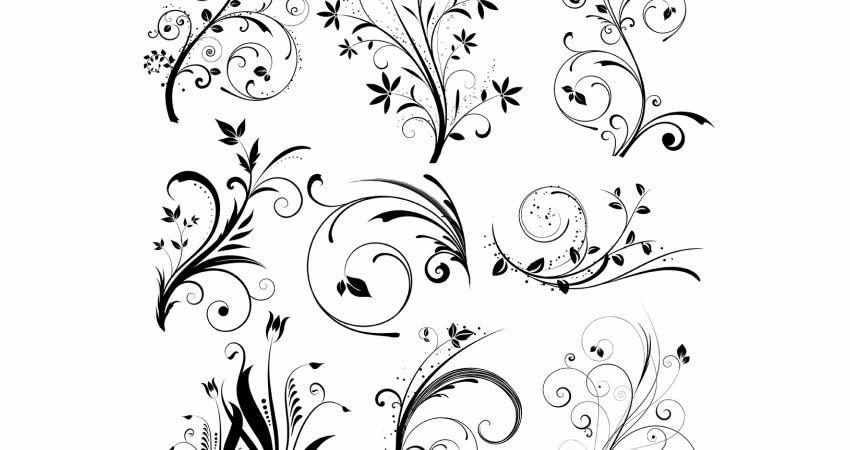 Various Vector Floral Designs template free illustrator