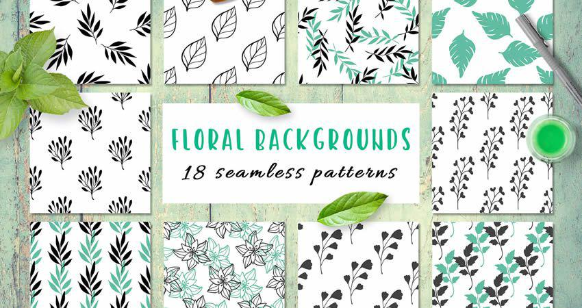 Floral Seamless vector template free illustrator