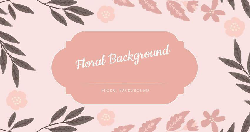 Pink Floral Vector Background template free illustrator