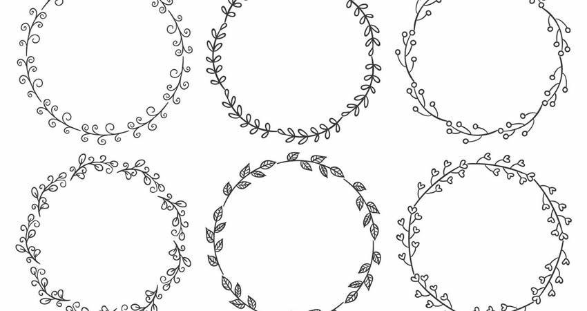 Oval Wreath Drawing