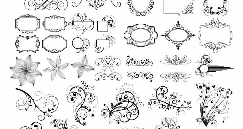 Vector Ornaments Pack template free illustrator