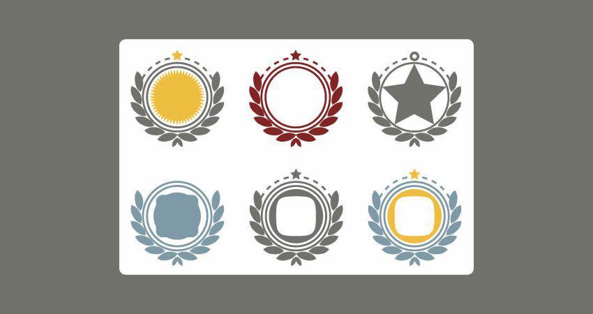 Vector Ornaments Frames template free illustrator