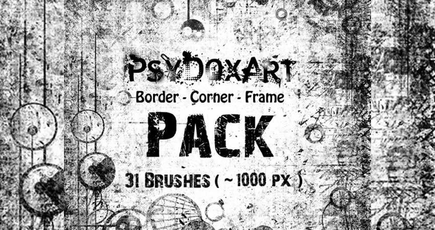 Border Corner Frame Brushes vector template free illustrator