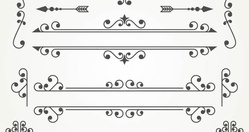 Decorative Ornaments vector template free illustrator