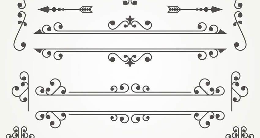 Decorative Ornaments vector template free illustrator