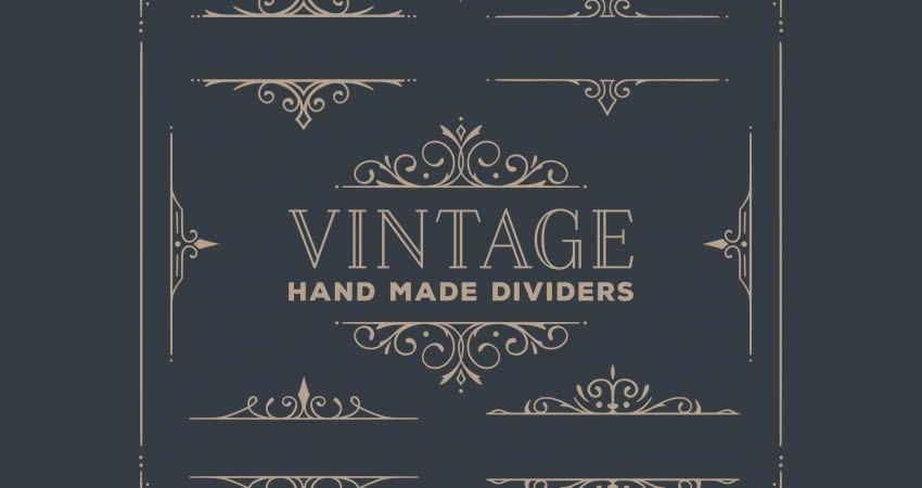 Vintage Ornament Divider Collection vector template free illustrator