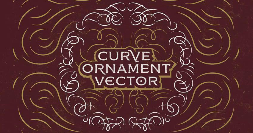 Curve Ornament Vector template free illustrator