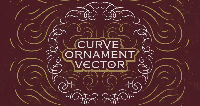 Curve Ornament Vector template free illustrator