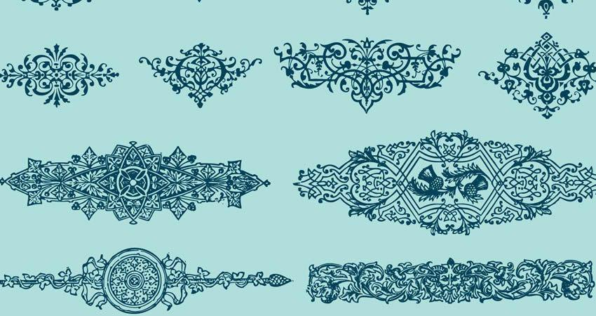Book Design Ornaments vector template free illustrator