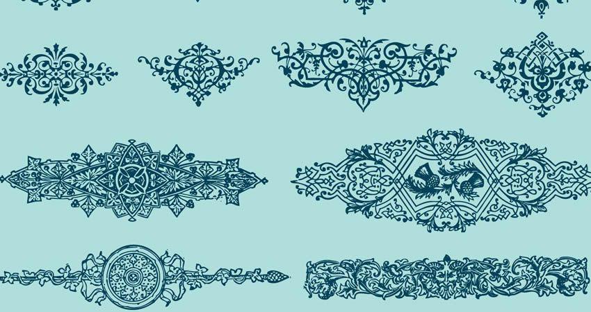 Book Design Ornaments vector template free illustrator