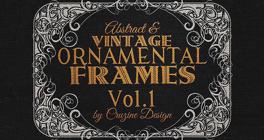10 Vintage Ornaments vector template free illustrator