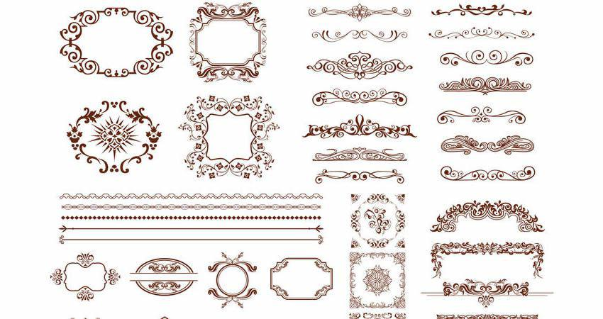 Retro Design Elements Collection vector template free illustrator
