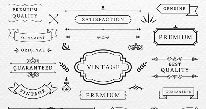 Vintage Vector Banner Collection template free illustrator