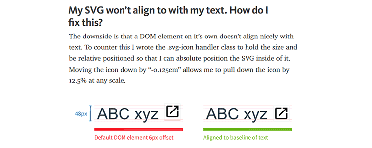 Align SVG Icons to Text and Say Goodbye to Font Icons