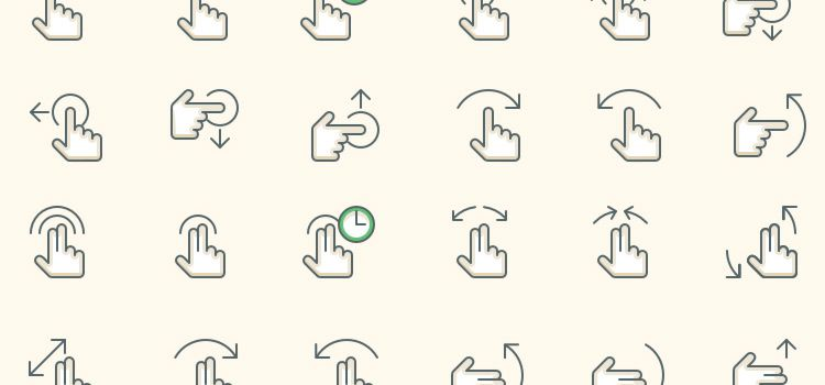 15 Free Gesture and Interaction Icon Sets for Mobile App Designers
