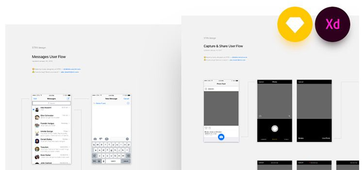Free iOS User Flows for Sketch & Adobe XD