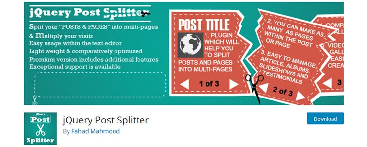 jQuery Post Splitter