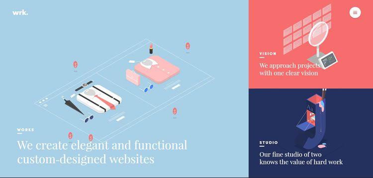 simplicity web design waaark homepage