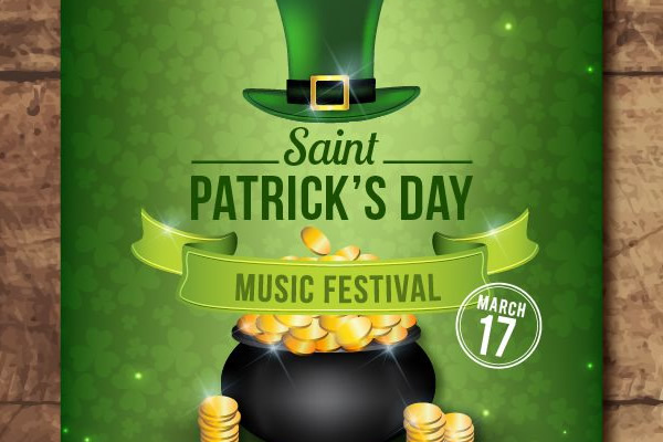 Freebie: 5 Free Flyer & Poster Templates for St. Patrick's Day