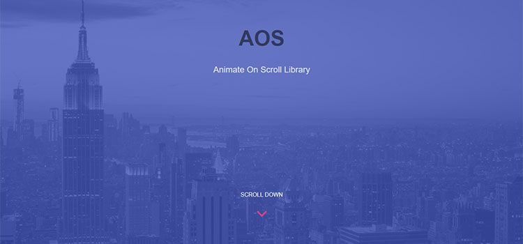AOS - Animate On Scroll Library