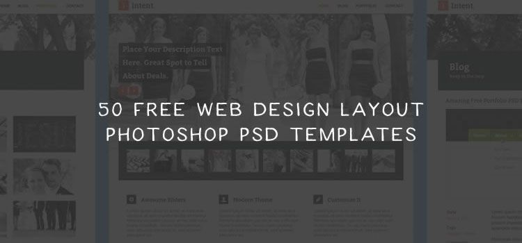 50 Free Web Design Layout Photoshop PSD Templates