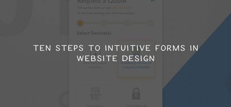 Ten Steps to Intuitive Forms in Website Design