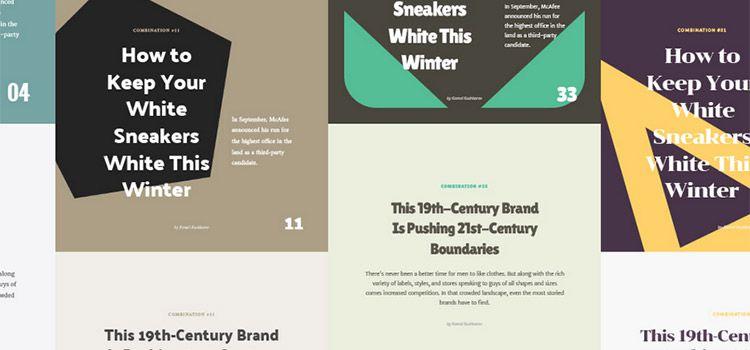 Font Combinations Kit
