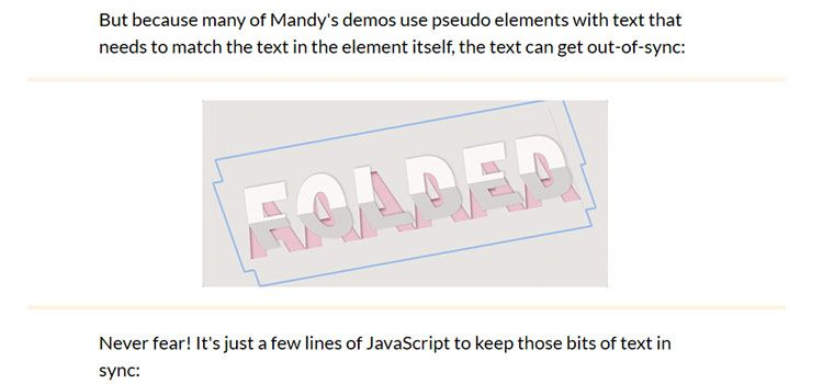 Text Effects with CSS (and a little contenteditable trick)