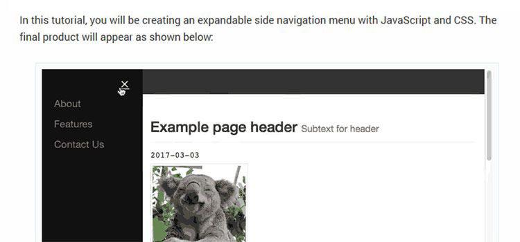 Making a Sliding Side Navigation Menu for Responsive Designs