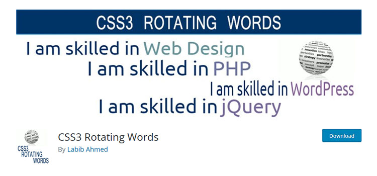 CSS3 Rotating Words