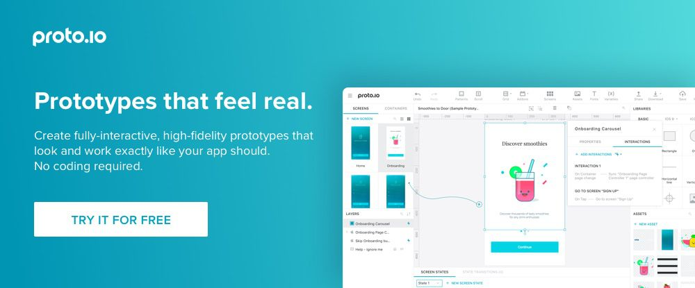 Proto.io better ux ui tools