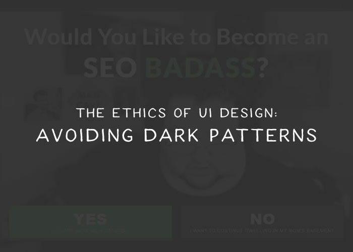 Avoiding Dark Patterns in Web Design