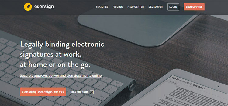 Eversign legally binding electronic signatures