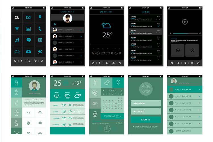 Freebie: Mobile App Assets UI Kit for Illustrator