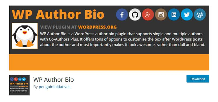 WP Author Bio