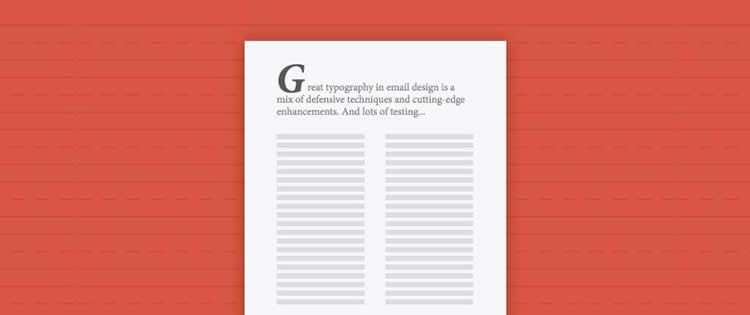 typography newsletter design