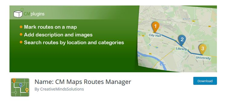 Name: CM Maps Routes Manager