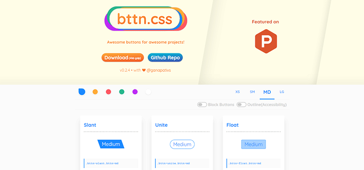 bttn.css - Awesome buttons for awesome projects
