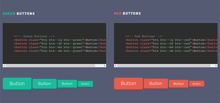 Pushy Buttons - CSS Pressable 3D Buttons