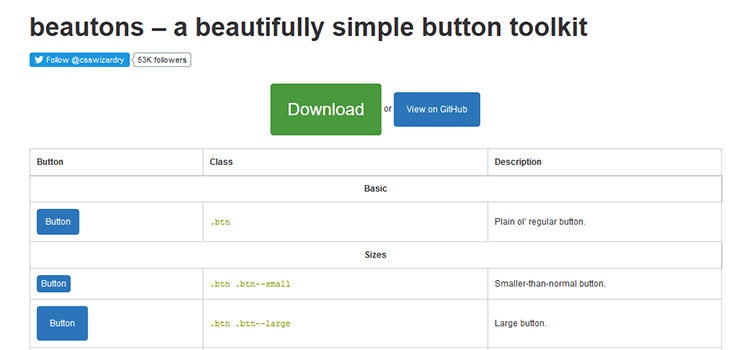 beautons - A beautifully simple button toolkit