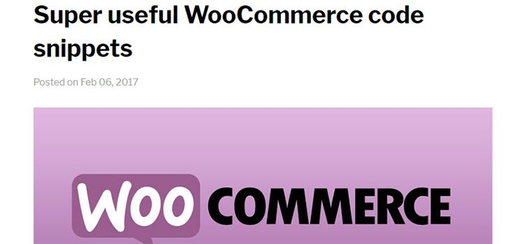 Super useful WooCommerce code snippets