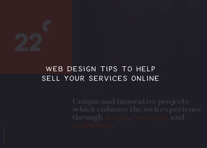 Web Design Tips to Help You Sell Services Online