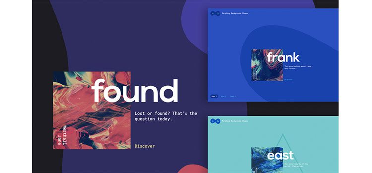 On-Scroll Morphing Background Shapes