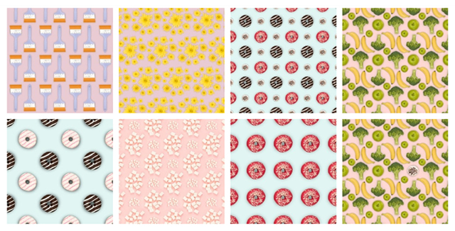 Mixed Icons8 Patterns