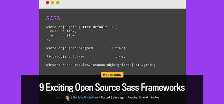 9 Exciting Open Source Sass Frameworks