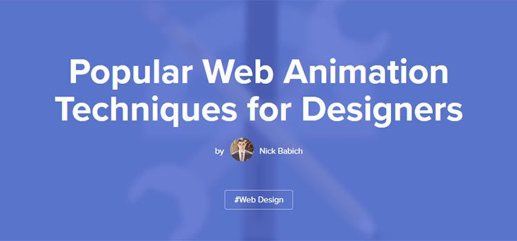 Popular Web Animation Techniques for Designers