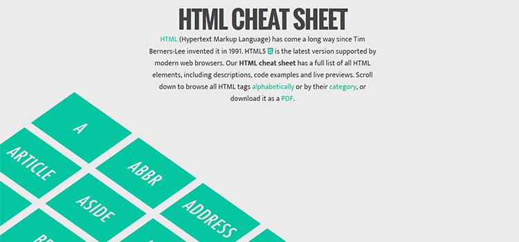 Interactive HTML Cheat Sheet