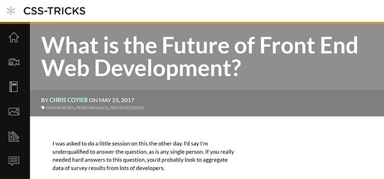 What is the Future of Front End Web Development?